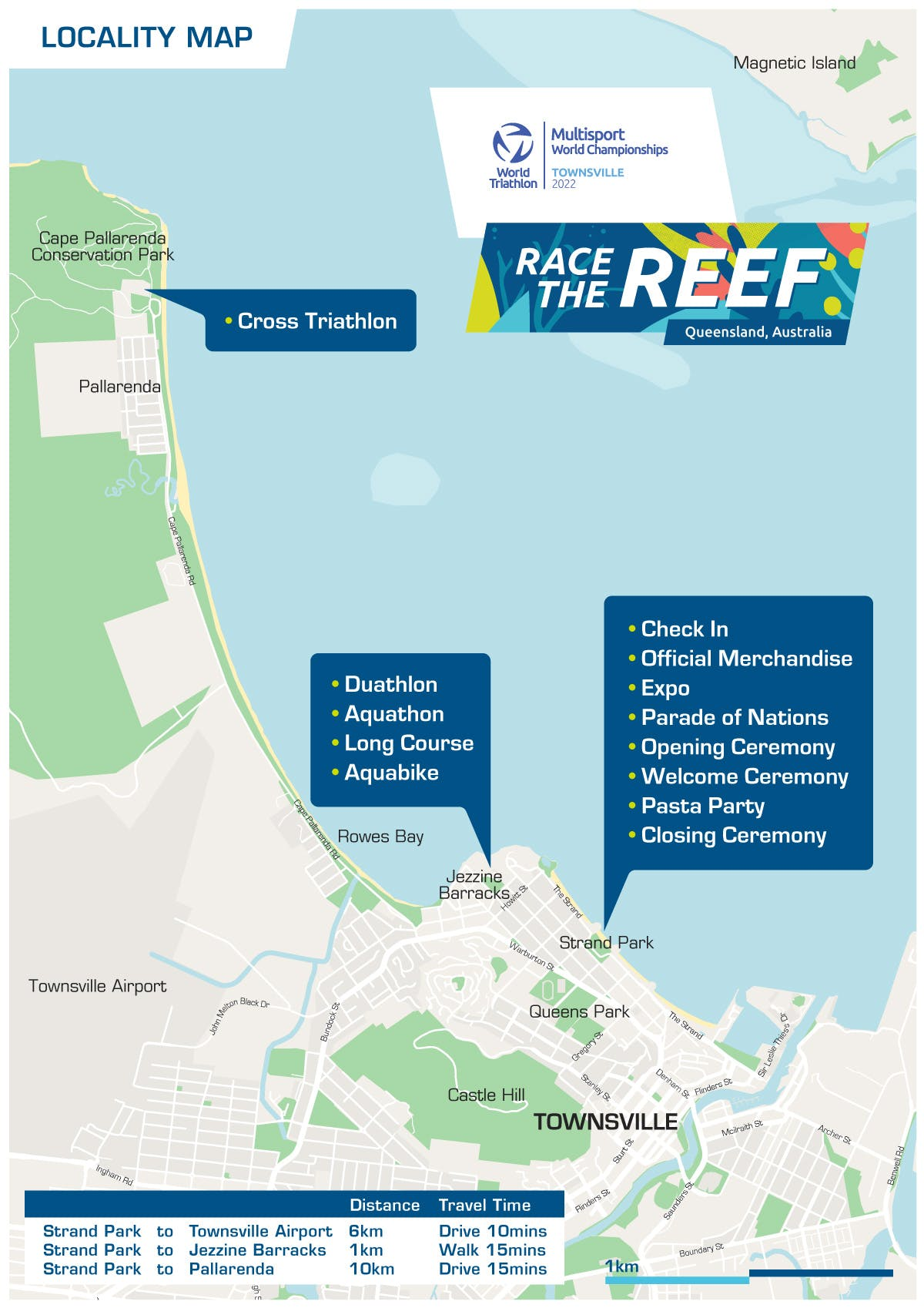 Multisport Championship Townsville22_Locality Map